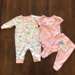 Clothing, Shoes & Accessories Gymboree Flamingo Flowers ~adorable~ Pink Bubble Romper 3-6 Months Baby & Toddler Clothing